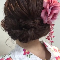 大人かわいい セミロング デート ヘアアレンジ ヘアスタイルや髪型の写真・画像