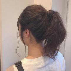 ヘアアレンジ 簡単ヘアアレンジ 黒髪 フェミニン ヘアスタイルや髪型の写真・画像