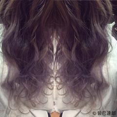 ロング グラデーションカラー ストリート パープル ヘアスタイルや髪型の写真・画像