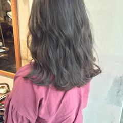 ナチュラル 韓国ヘア ヘアアレンジ セミロング ヘアスタイルや髪型の写真・画像