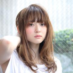 透明感 ワンカール 艶髪 ストレート ヘアスタイルや髪型の写真・画像