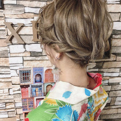 浴衣アレンジ 浴衣ヘア 大人可愛い フェミニン ヘアスタイルや髪型の写真・画像