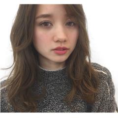 ミディアム 冬 パーマ ピュア ヘアスタイルや髪型の写真・画像