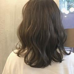 秋 透明感 ミディアム 涼しげ ヘアスタイルや髪型の写真・画像