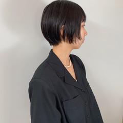 シンプル ナチュラル ショート ショートヘア ヘアスタイルや髪型の写真・画像