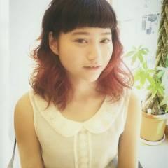 外国人風 愛され グラデーションカラー コンサバ ヘアスタイルや髪型の写真・画像