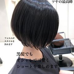 ベリーショート 切りっぱなしボブ ショートヘア ミニボブ ヘアスタイルや髪型の写真・画像