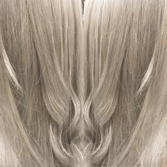 エレガント 外国人風カラー セミロング 透明感 ヘアスタイルや髪型の写真・画像