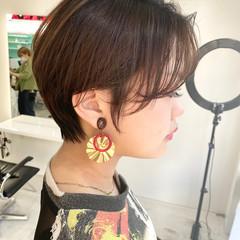 ショート ショートヘア ブリーチ ショートボブ ヘアスタイルや髪型の写真・画像