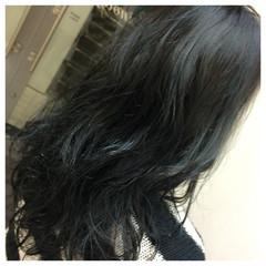 モード アッシュ 黒髪 ロング ヘアスタイルや髪型の写真・画像