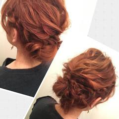 ゆるふわ ヘアアレンジ 編み込み ミディアム ヘアスタイルや髪型の写真・画像