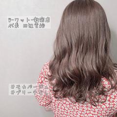 ナチュラル 髪質改善カラー 外国人風カラー セミロング ヘアスタイルや髪型の写真・画像