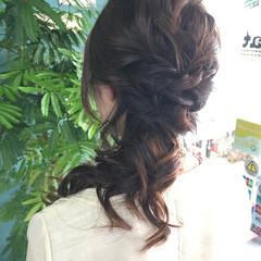 ヘアアレンジ ミディアム 結婚式 上品 ヘアスタイルや髪型の写真・画像