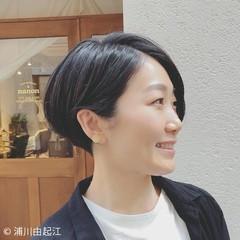 大人かわいい 黒髪 オフィス デート ヘアスタイルや髪型の写真・画像