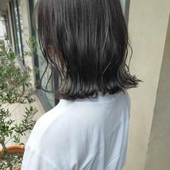 ミディアム 髪質改善トリートメント ナチュラルベージュ ナチュラル ヘアスタイルや髪型の写真・画像