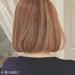モテ髪 デート ボブ ハイライト ヘアスタイルや髪型の写真・画像