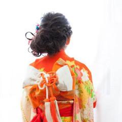 和装 ミディアム 着物 ヘアアレンジ ヘアスタイルや髪型の写真・画像