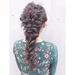 ヘアアレンジ 黒髪 フェミニン 結婚式 ヘアスタイルや髪型の写真・画像