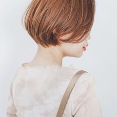 ショート 白髪染め ハイライト ショートボブ ヘアスタイルや髪型の写真・画像