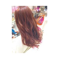 イルミナカラー ロング ベージュ ピンク ヘアスタイルや髪型の写真・画像