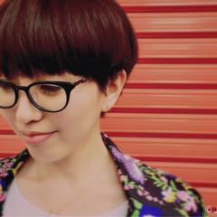 ショート モード マッシュ 前髪パッツン ヘアスタイルや髪型の写真・画像