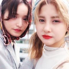 簡単ヘアアレンジ 韓国ヘア ガーリー 韓国風ヘアー ヘアスタイルや髪型の写真・画像