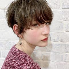 クール 春スタイル フェミニン ハンサムショート ヘアスタイルや髪型の写真・画像