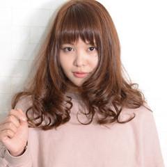 フェミニン ロング ガーリー 大人かわいい ヘアスタイルや髪型の写真・画像