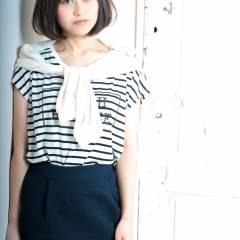 大人女子 大人かわいい ナチュラル 黒髪 ヘアスタイルや髪型の写真・画像