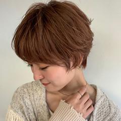 ショート ショートヘア マッシュショート ナチュラル ヘアスタイルや髪型の写真・画像