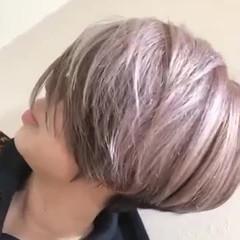 デザインカラー イルミナカラー ショート ショートヘア ヘアスタイルや髪型の写真・画像
