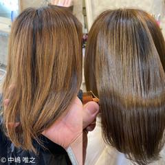 ストレート 艶髪 クセ ミディアム ヘアスタイルや髪型の写真・画像
