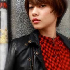 ストリート モード ボブ ナチュラル ヘアスタイルや髪型の写真・画像
