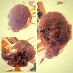 パーティ ナチュラル 結婚式 ヘアアレンジ ヘアスタイルや髪型の写真・画像