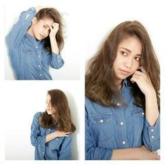 パーマ 外国人風 ゆるふわ セミロング ヘアスタイルや髪型の写真・画像
