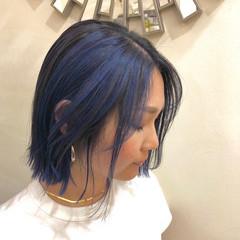 ハイライト ユニコーンカラー ストリート ボブ ヘアスタイルや髪型の写真・画像