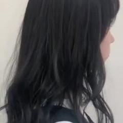 ハイライト グレージュ ナチュラル セミロング ヘアスタイルや髪型の写真・画像