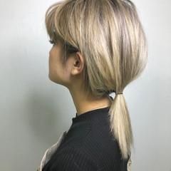 外国人風カラー ハイトーン ホワイトカラー ミディアム ヘアスタイルや髪型の写真・画像