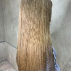 ハイトーンカラー ヌーディーベージュ エレガント ロング ヘアスタイルや髪型の写真・画像