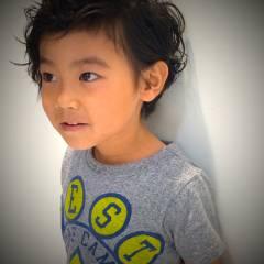黒髪 子供 ストリート 外国人風 ヘアスタイルや髪型の写真・画像