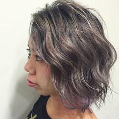 グラデーションカラー 外国人風 切りっぱなし ガーリー ヘアスタイルや髪型の写真・画像
