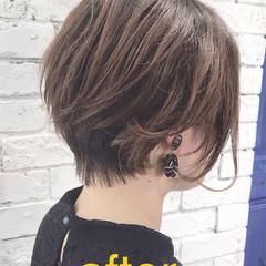 ショート クール ショートヘア 3Dハイライト ヘアスタイルや髪型の写真・画像
