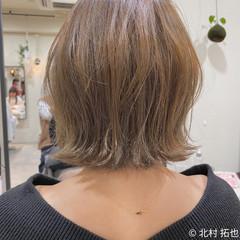 シアーベージュ 透明感カラー グレージュ ボブ ヘアスタイルや髪型の写真・画像