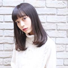 ナチュラル 髪質改善 セミロング 黒髪 ヘアスタイルや髪型の写真・画像