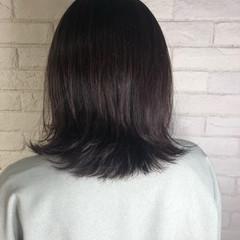 切りっぱなしボブ ナチュラル ウルフカット ミディアム ヘアスタイルや髪型の写真・画像