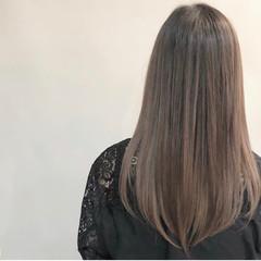 ロング 髪質改善トリートメント ワンレングス エレガント ヘアスタイルや髪型の写真・画像