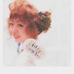 ガーリー 外国人風 ボブ ヘアアレンジ ヘアスタイルや髪型の写真・画像