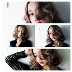 大人女子 大人かわいい ガーリー ミディアム ヘアスタイルや髪型の写真・画像