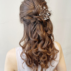 結婚式ヘアアレンジ 浴衣アレンジ ロング エレガント ヘアスタイルや髪型の写真・画像