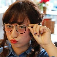 ロング ガーリー ヘアアレンジ ツインテール ヘアスタイルや髪型の写真・画像
